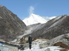 lonely man heading towards Cho Oyu