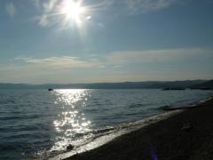 Baikal and sun