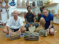 Palolem Beach, Goa, drumming our life