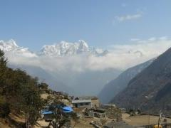 The sky over Namche Baazar valley