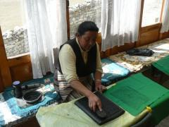 Khumjung printing prayers 1