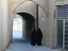 Yazd, women in the old city