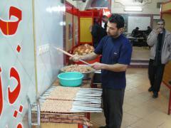 Yazd, preparing kebab